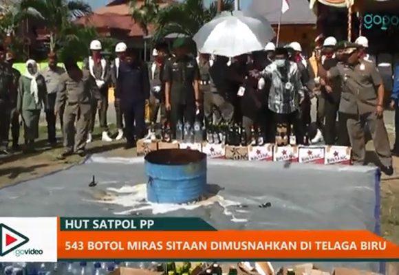 Pemusnahan Miras di Gorontalo
