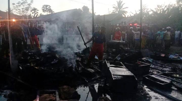 Kebakaran kantor gudang BPKH Regional XV Gorontalo