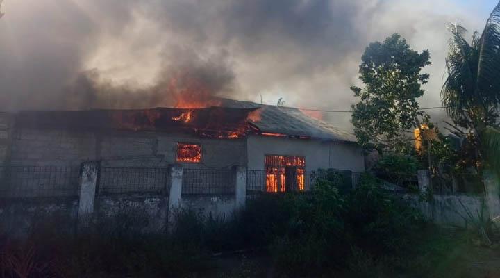 Kebakaran rumah di Kelurahan Liluwo, Kecamatan Kota Tengah, Kota Gorontalo
