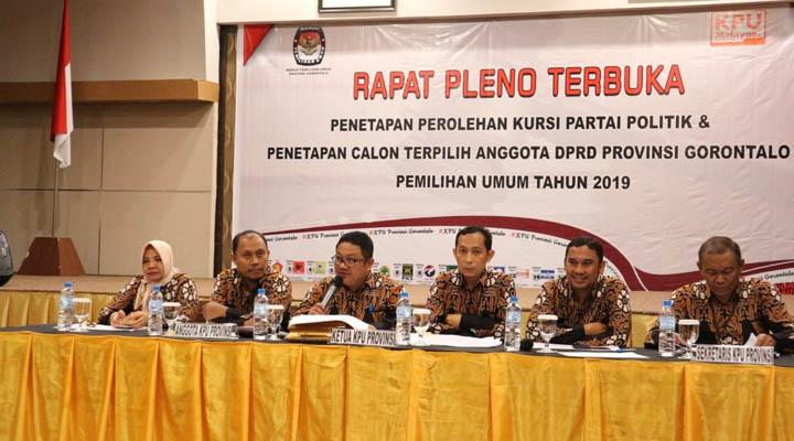 Penetapan kursi dan anggota terpilih DPRD Provinsi Gorontalo 2019-2024
