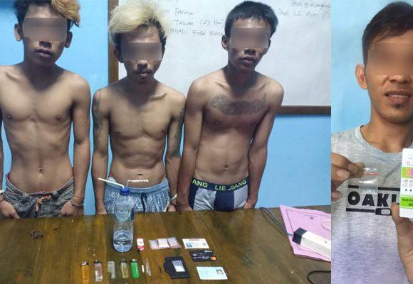 Empat pemuda asal Sulteng yang diduga membawa narkoba ke GorontaloPohuwato