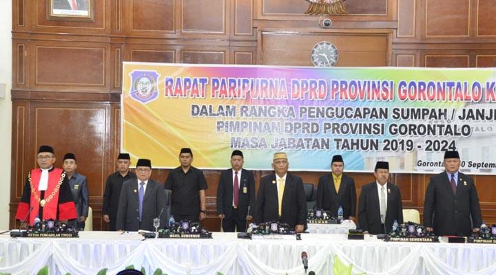 Pelantikan Pimpinan Deprov Gorontalo