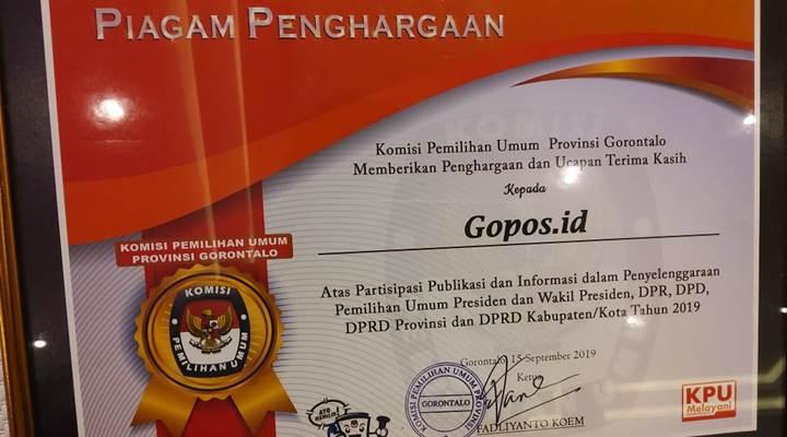 Piagam Penghargaan KPU Award