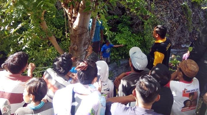 Korban ditemukan tewas tergantung di pohon