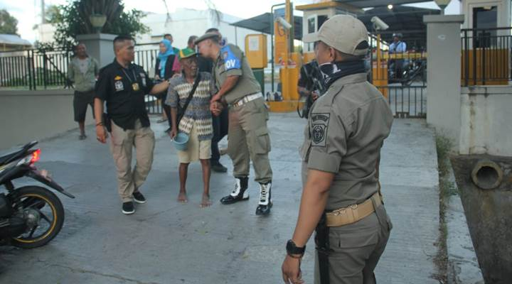 Razia Pengemis di Kota Gorontalo