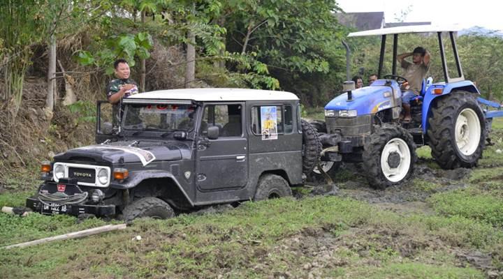 offroad HUT TNI di Gorontalo