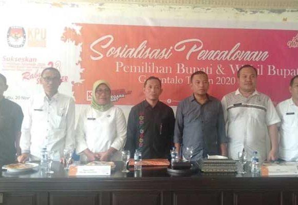 Sosilisasi tahapan pencalonan Pilkada Kabupaten Gorontalo